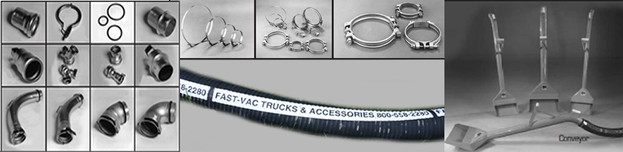 Vacuum Hose, clamps, connectors, nozzles